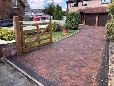 Block paving in Taunton