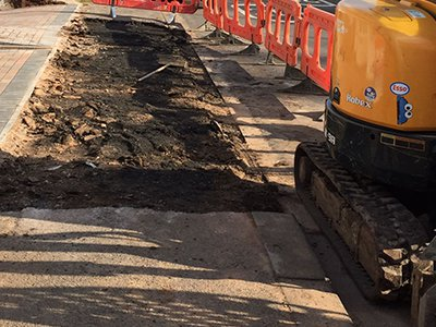 Dropped kerb installation in Somerset