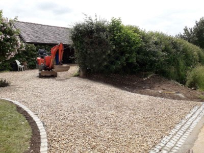 Gold gravel driveway installed in Somerset