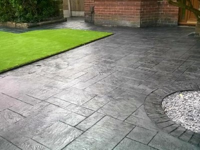 Decorative Patterned Concrete Driveway in Somerset