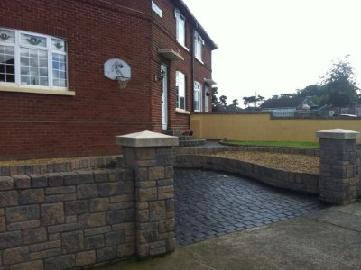 Imprinted Concrete Driveway in Somerset