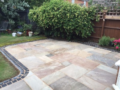 Indian sandstone patio in Somerset