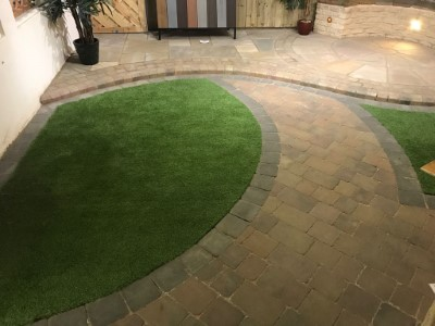 New Patio Laid With Bricks in Somerset
