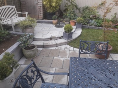 Natural Grey Stone on Patio in Somerset