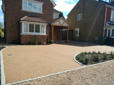 Gold Chip Resin Driveway in Somerset