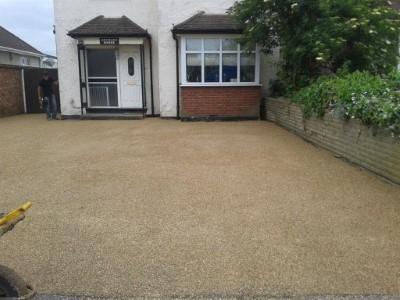 Gold tar and chip driveway in Somerset