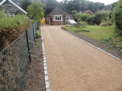 New tarred entrance to a home in Somerset